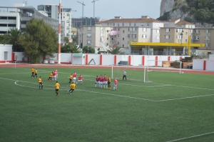 Chipolina takes the free kick!