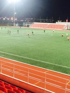 Teams prepare to kick the second half on