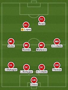 Starting XI vs Lincoln FC