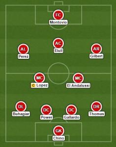 United team versus Glacis